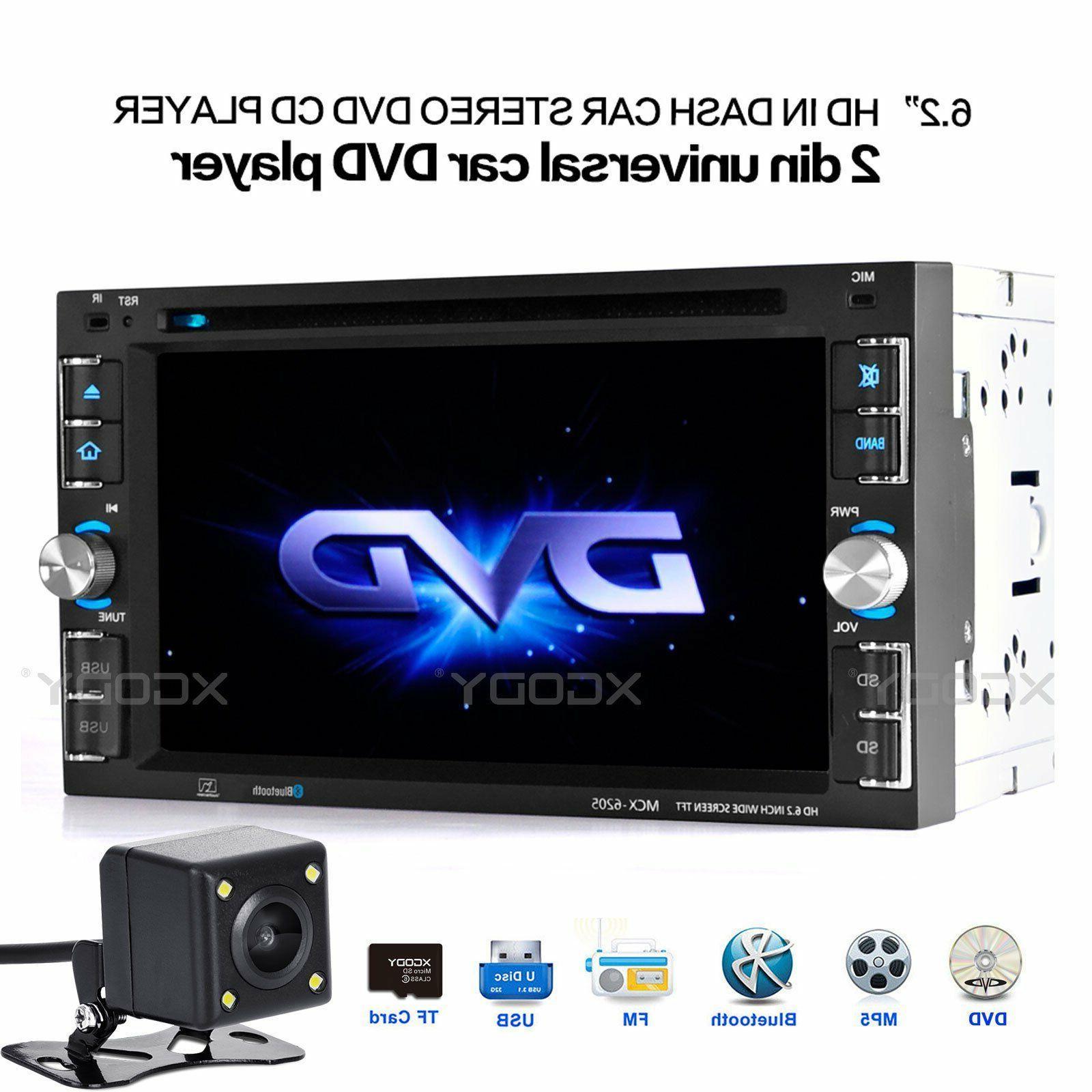 "Car Stereo Radio DVD CD MP5 Player 6.2"" Touch Screen Bluetoo"