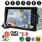 GPS Navigation Double 2Din Car Stereo DVD CD Player Bluetoot