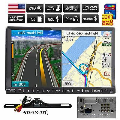 """HD 7"""" In Dash Double 2 Din Car Stereo DVD Player GPS Navigat"""