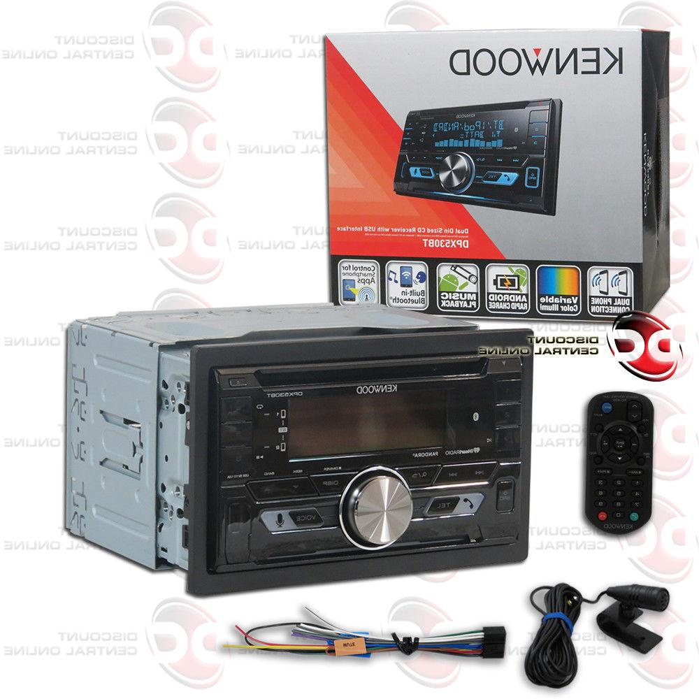 KENWOOD DPX530BT CAR DOUBLE DIN AM/FM CD USB BLUETOOTH STERE