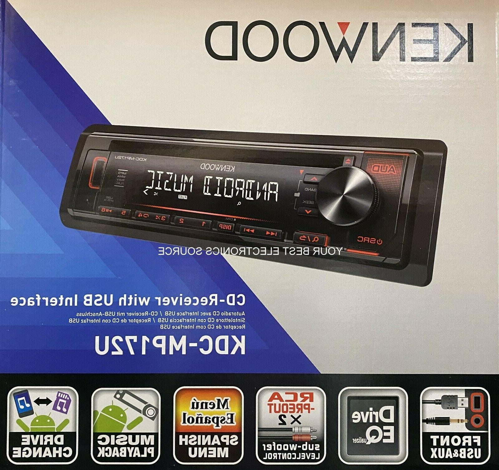 Kenwood KDC-MP172U In-Dash Car CD Player Receiver w/ USB/iPh