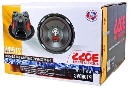 "Package: Watt 10"" Voice Coil Car Subwoofer + RSV10 10"" Vented + Kit With Gauge Speaker Wire + Screws + Spade Terminals"