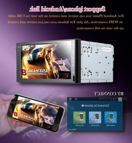 Android 2Din DVD Player Radio 6.2'' Navi WiFi Head Unit