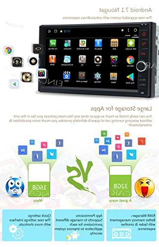 Android 32GB Octa Navigation MirrorLink SD Backup Front 7¡± Capacitive Touchscreen Double Din + Cam
