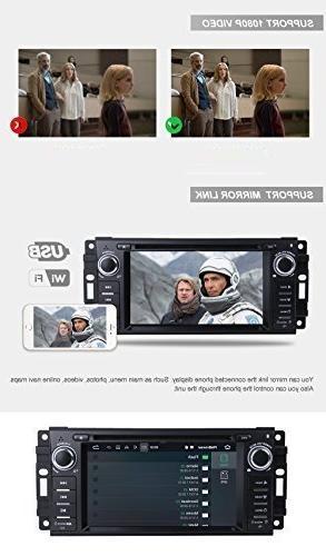 "MCWAUTO Android 8.1 Stereo Jeep Unit Single Din 6.2"" Radio Navigation Bluetooth/3G/Rear Camera"