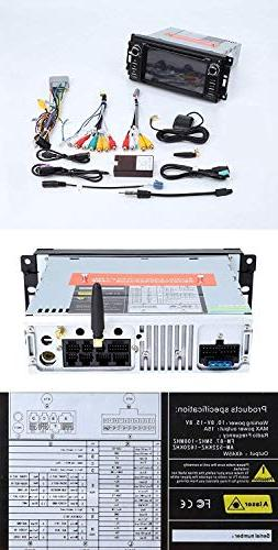 MCWAUTO 8.1 Car Stereo GPS Compatible Dodge Ram Jeep Head Unit Radio Bluetooth/3G/Rear Camera