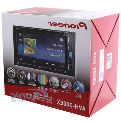 Pioneer AVH-200EX Double DIN Touch Bluetooth Car Audio Stereo Radio