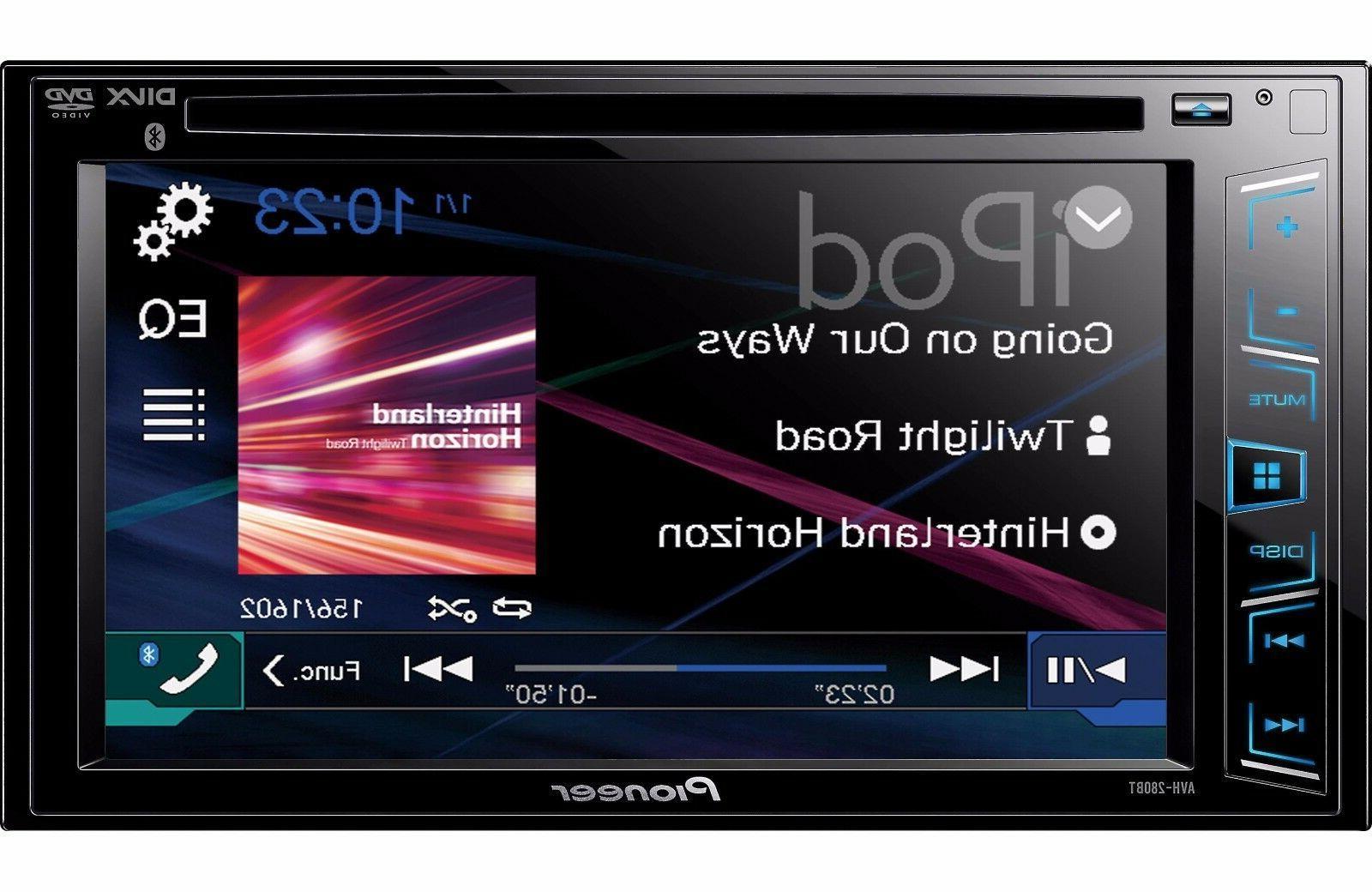 Pioneer AVH-280BT Car LED-LCD 88 W Double Channels DVD-RW, CD-RW - DVD Video, MPEG-1, MPEG-2, 3, 4, . - CD-DA, WMA, AAC, WMA8, WM