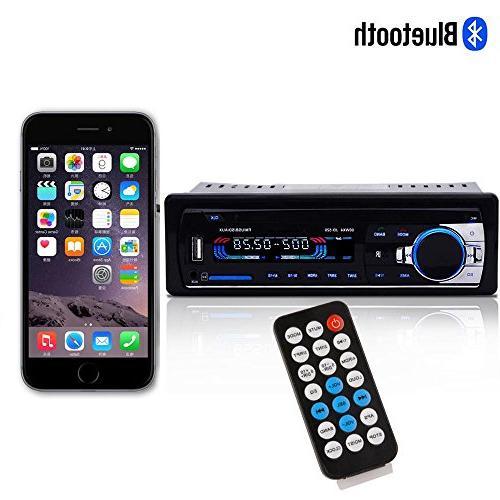 Bessky® Bluetooth Audio 1 DIN FM Aux SD USB MP3