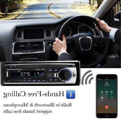 Bluetooth Audio In-Dash Receiver SD Radio Player
