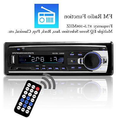 Bluetooth Car Stereo In-Dash FM Aux Receiver MP3 Radio