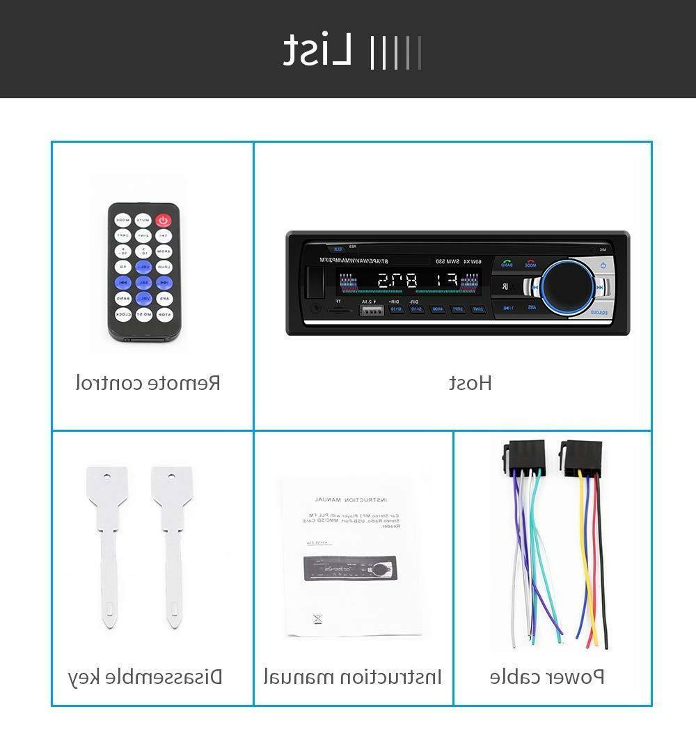 Bluetooth Stereo Audio In-Dash FM Receiver SD Radio