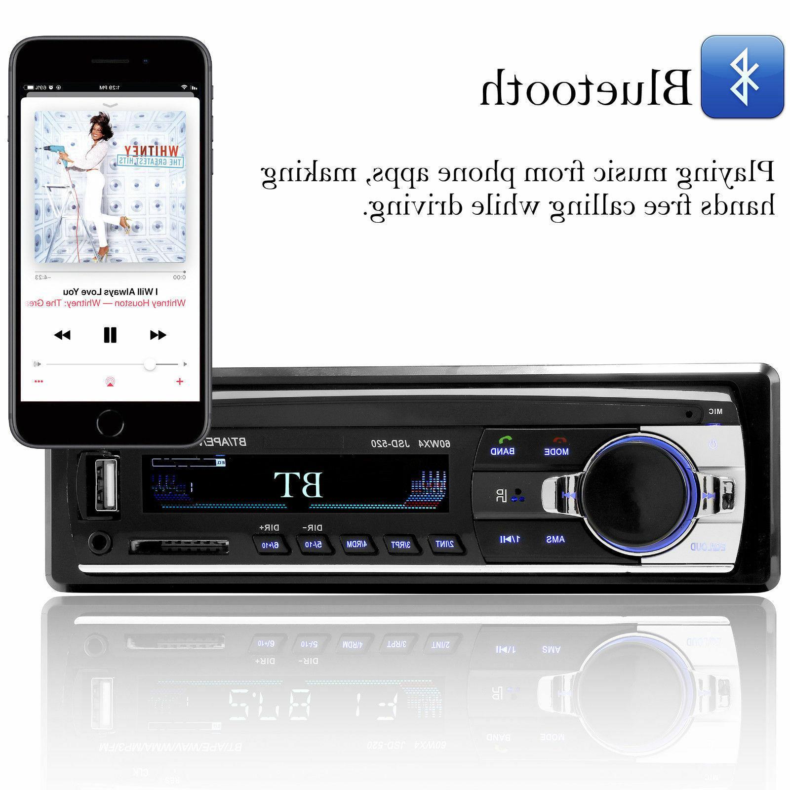 Bluetooth In-Dash Aux Receiver USB Radio