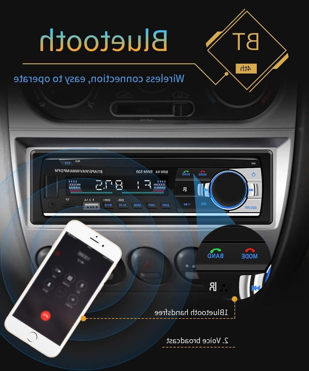 Bluetooth Car In-Dash FM Aux Receiver Radio