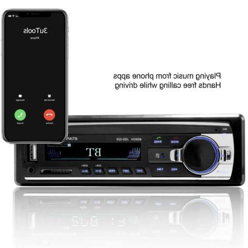 Bluetooth Stereo FM AUX Receiver SD USB MP3 Player In-Dash Unit