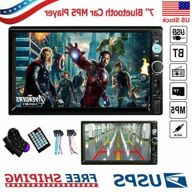 "7"" Car MP5 Bluetooth Screen USB AUX"