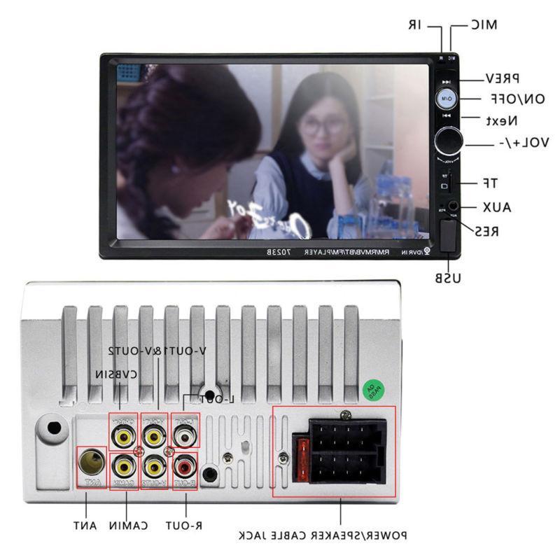 Bluetooth Car Radio Double 2 HD