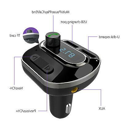 Bluetooth Stereo Audio Radio Adapter Charger SD