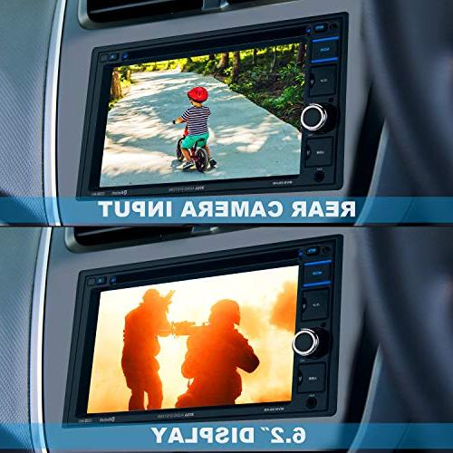 BOSS Audio BV9364B Car Stereo DVD – Double Din, Bluetooth Audio and Free 6.2 Touchscreen Monitor, Player, AUX Input, Radio Receiver