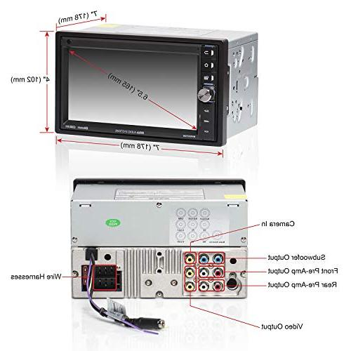 BOSS Stereo Double Din, Bluetooth Audio Hands Free Calling, 6.5 Touchscreen Monitor, Player, USB Card Input, AM/FM Radio