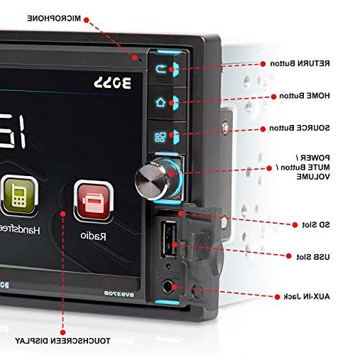 BOSS Stereo Bluetooth Audio Hands Free Touchscreen LCD Monitor, MP3 Player, Card Slot, AUX Input, AM/FM Radio
