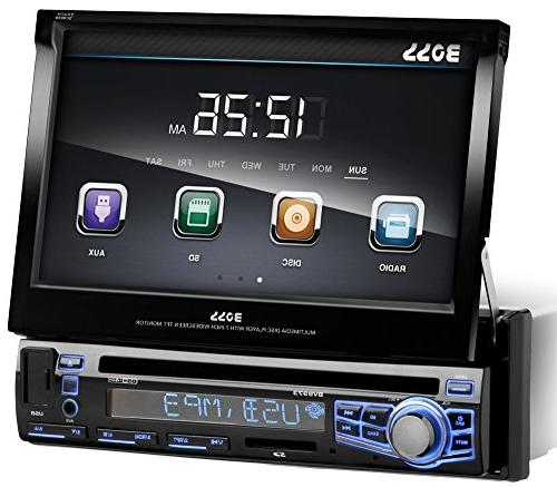 bv9973 single din motorized touchscreen