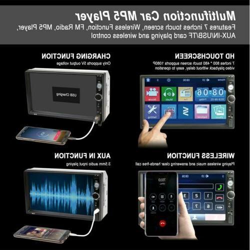 Car Inch HD 1080P FM Player Stereo Radio Rear Camera