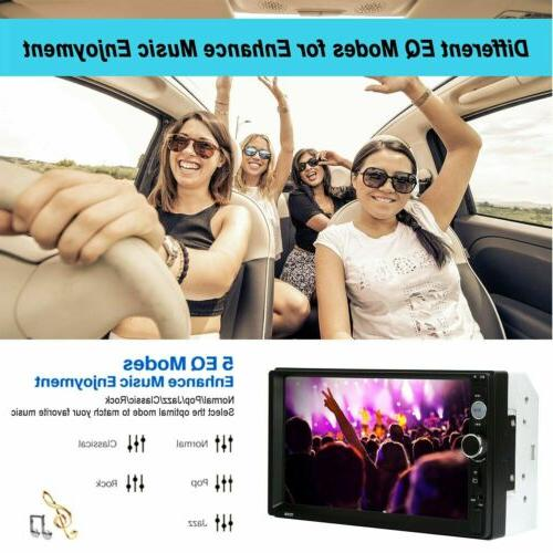 Car 2 Inch 1080P MP5 FM Player Screen Stereo Radio Camera