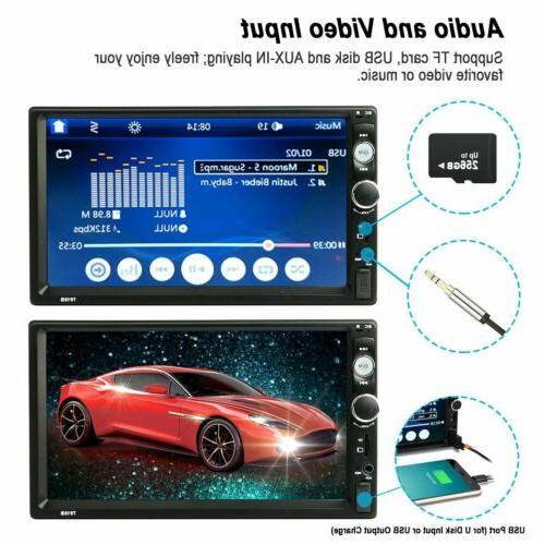"""Car 2 7"""" Inch 1080P MP5 FM Touch Stereo +"""