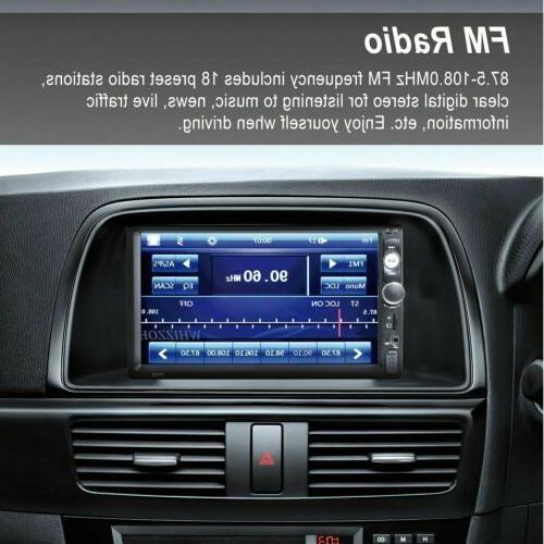 "Car 2 DIN 7"" FM Stereo Radio Camera"