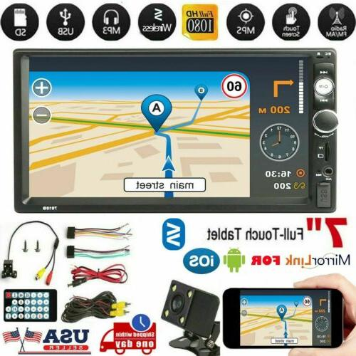 Inch 1080P MP5 FM Touch Screen Stereo + Rear Camera