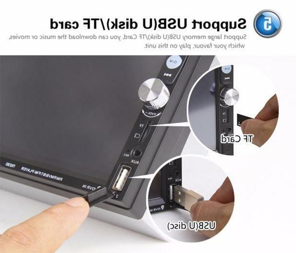 Car Inch Touch Screen Stereo MP5 Bluetooth Rear