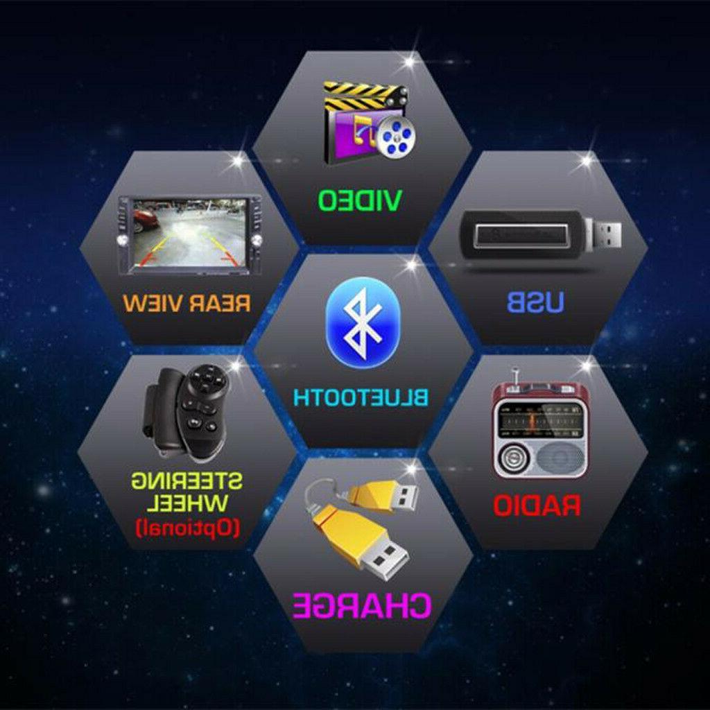 Car Touch Screen Bluetooth USB + Rear Camera US