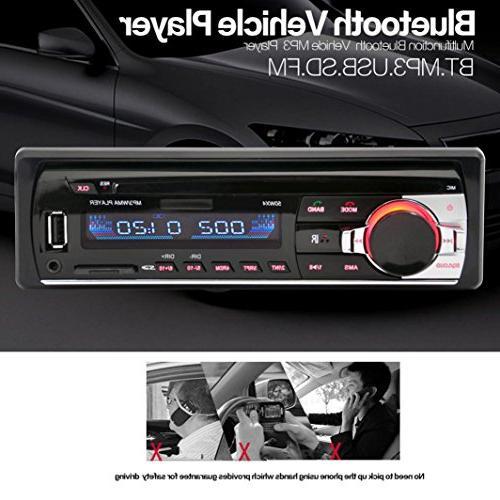 Ruhiku Car Bluetooth Stereo FM 1 Radio