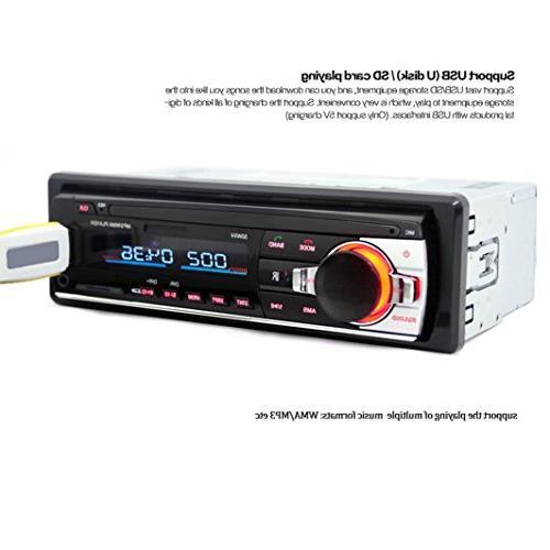 Ruhiku GW Car Audio Stereo MP3 Player, Bluetooth In-Dash Stereo FM AUX Receiver Radio