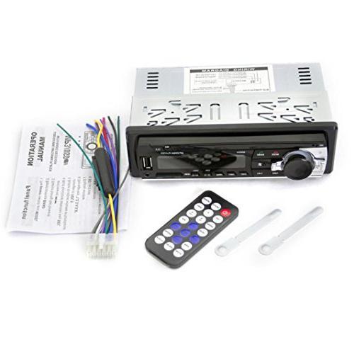 Ruhiku Stereo Player, Bluetooth Car In-Dash FM AUX Receiver Audio 1 Radio