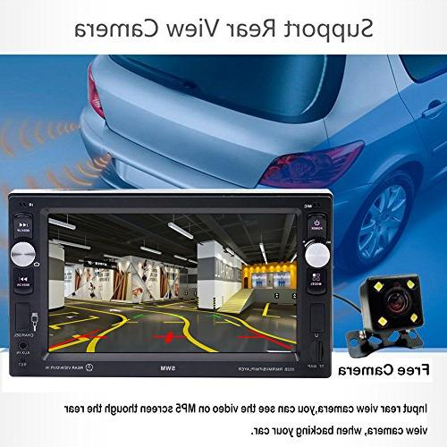 Car Double Touch Screen LCD for Car Support receiver Remote