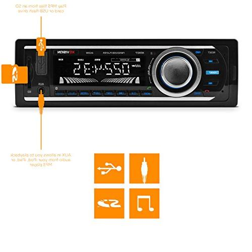 Car Stereo, Vision Wireless Stereo Receiver x USB , and MP3 and
