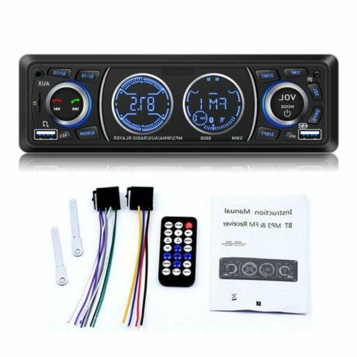 Bluetooth Car Stereo USB/AUX/FM with Rearview Camera and Rem