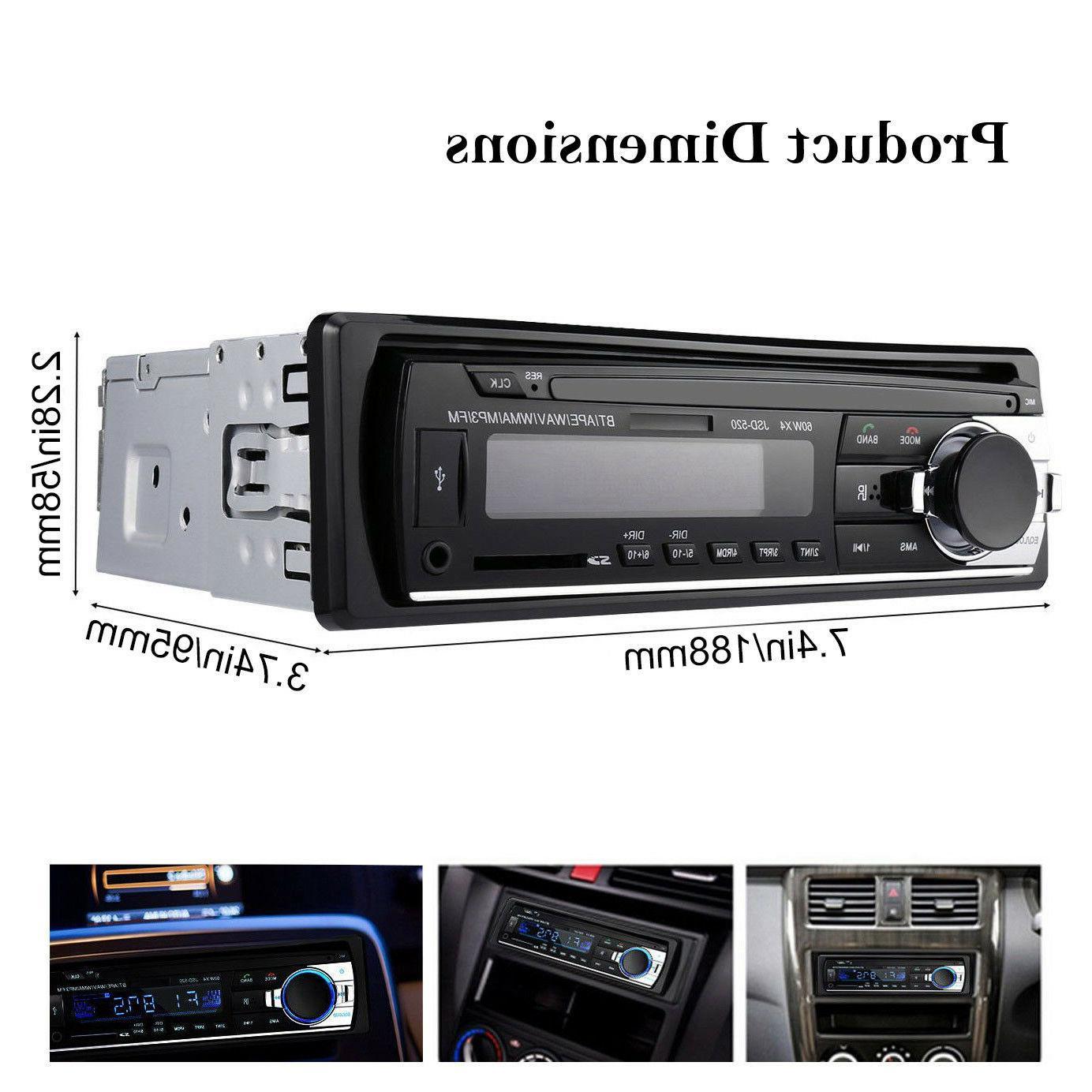 Car In-Dash Receiver USB Radio Player