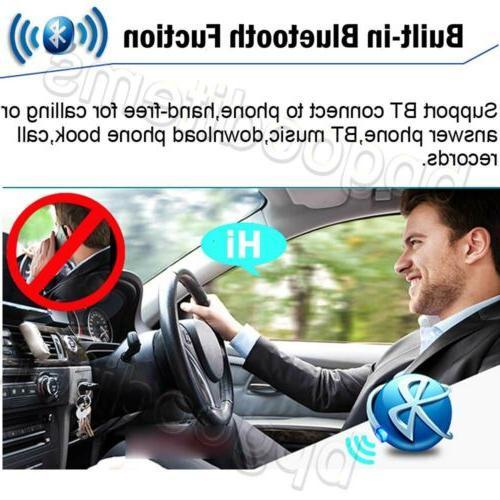 Car Bluetooth 2 Din CD Player MirrorLink For GPS Navigation+Cam