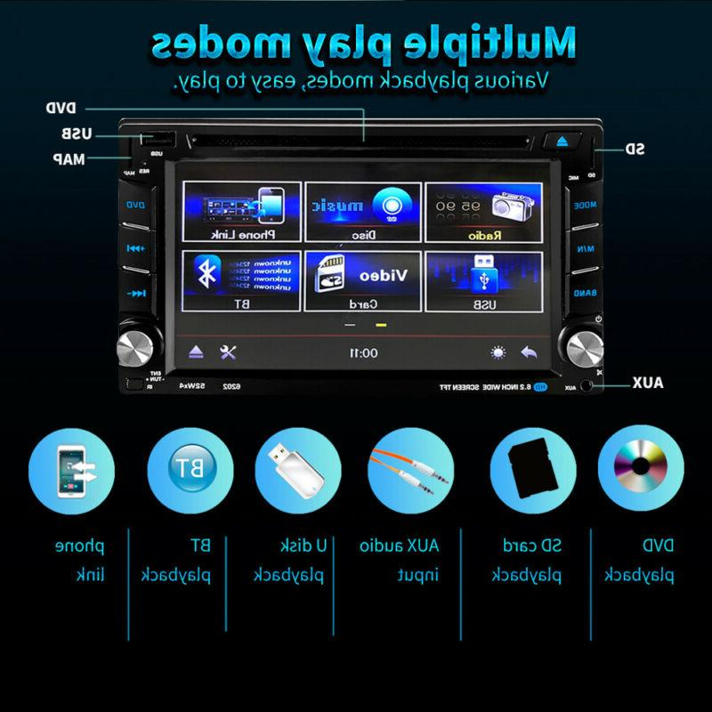 """6.2"""" Car Stereo DVD Player Navigation Screen Double 2"""