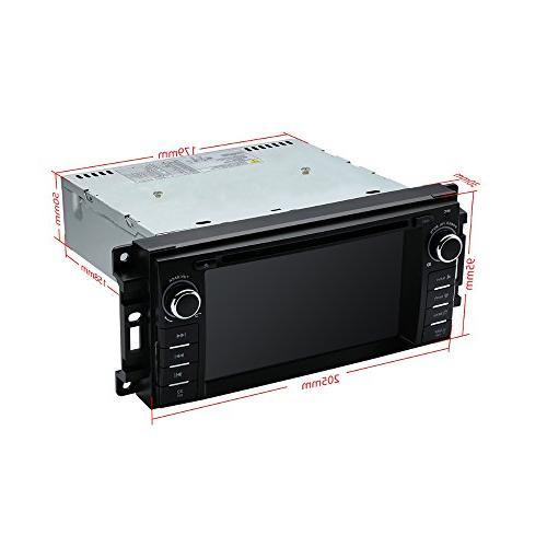 MCWAUTO DVD Player Ram Challenger JK Indash Radio Receiver with Navigation Bluetooth/3G