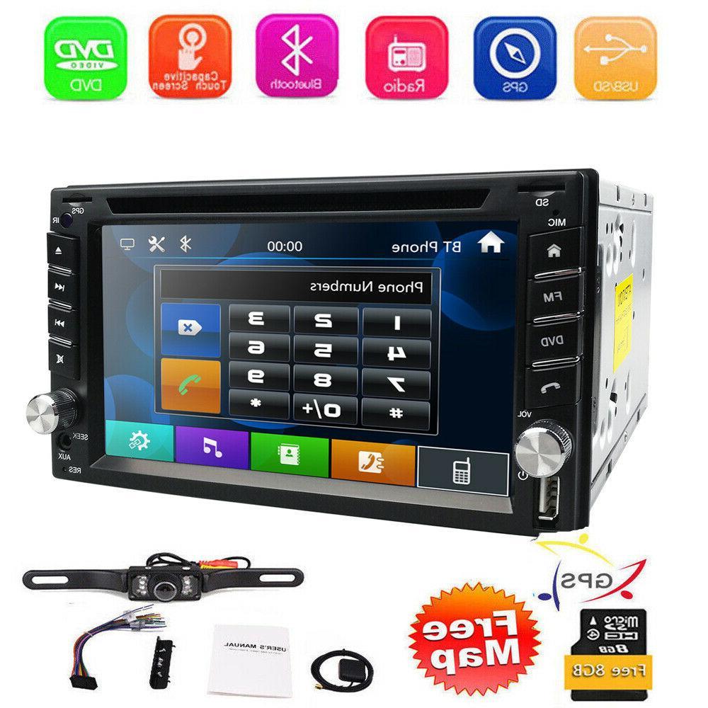 "Car Stereo GPS Bluetooth 2 Din 6.2"" DVD"
