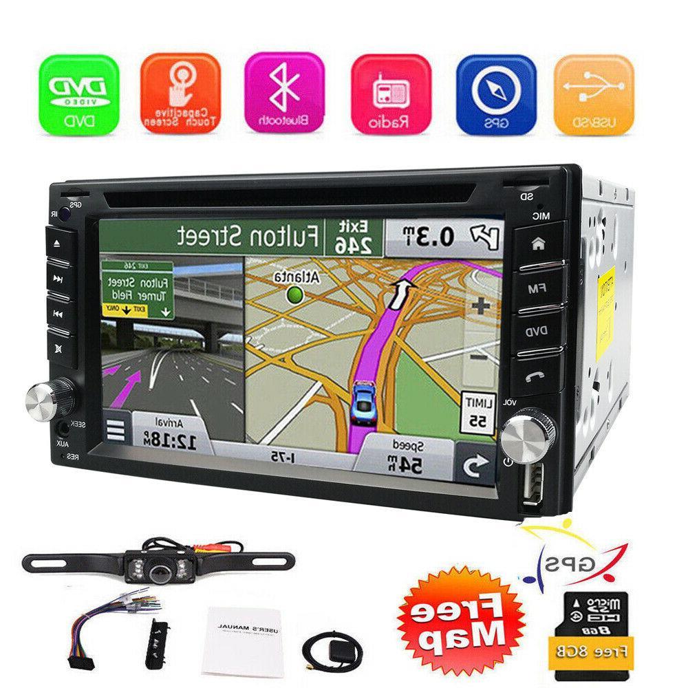 car stereo gps navigation bluetooth radio double