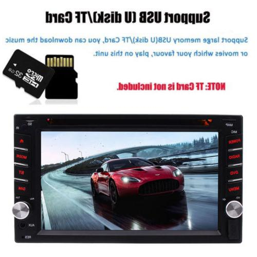 "Car Stereo Bluetooth Din 6.2"" Player"