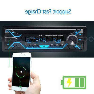 Car MP3 Player Bluetooth TF FM Radio Handsfree MIc.