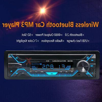Car Bluetooth USB TF FM Audio Handsfree MIc
