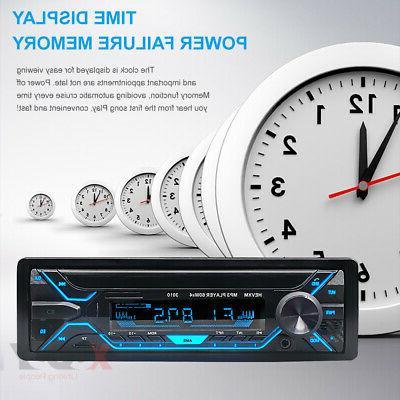 Car Stereo MP3 Bluetooth FM Radio In-dash Handsfree MIc