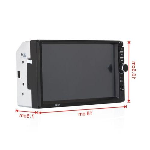 Car Stereo Radio Audio Receiver Double Din USB